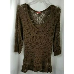 Anthropologie Tapemeasure Crochet Tunic 2 PC Large
